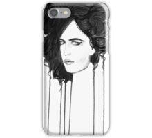 Eva Green. Portrait. Ink iPhone Case/Skin