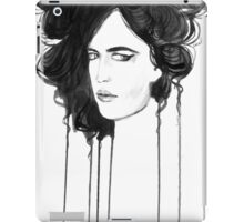 Eva Green. Portrait. Ink iPad Case/Skin