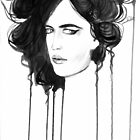 Eva Green. Portrait. Ink by Kristina Fekhtman