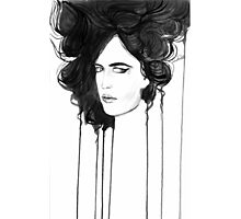 Eva Green. Portrait. Ink Photographic Print