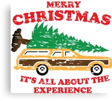 Merry Christmas, It's All About The Experience Canvas Print