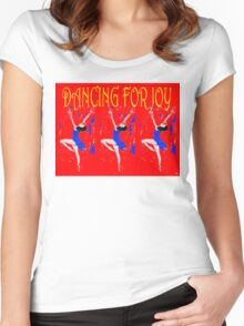 DANCING FOR JOY Women's Fitted Scoop T-Shirt