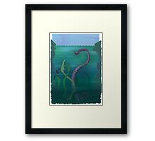 The Dark Below Framed Print