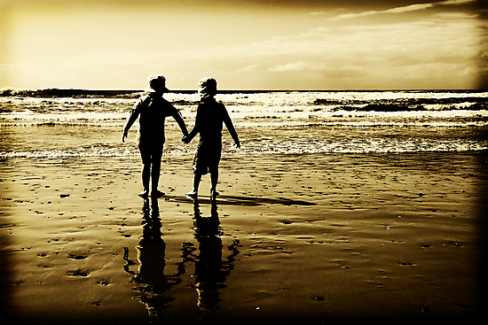 Louis and Holly at the beach... by Nicole Goggins