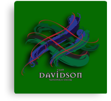 Davidson Tartan Twist Canvas Print