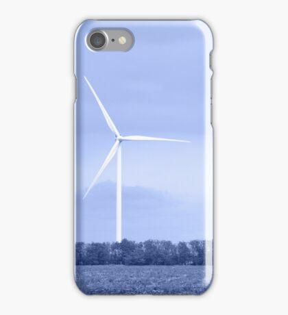 Wind turbine. Toned. iPhone Case/Skin