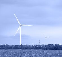 Wind turbine. Toned. by bashta
