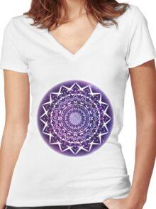 Galaxy Mandala  Women's Fitted V-Neck T-Shirt