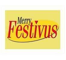 merry festivus (red) Art Print