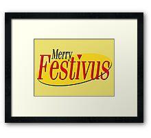merry festivus (red) Framed Print