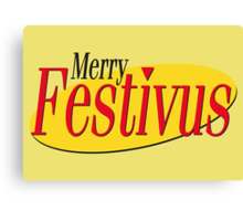 merry festivus (red) Canvas Print
