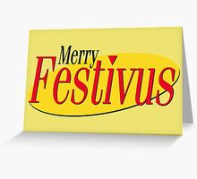 merry festivus (red) Greeting Card