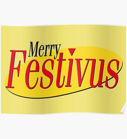 merry festivus (red) Poster