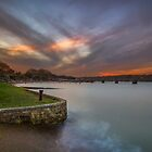 Fishbourne Sunset by manateevoyager