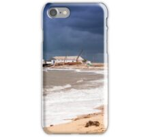 View of stormy seascape. iPhone Case/Skin
