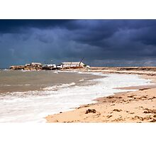 View of stormy seascape. Photographic Print