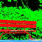 Red Bench by Pal Gyomai