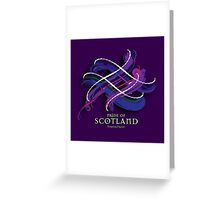 Pride of Scotland Tartan Twist Greeting Card