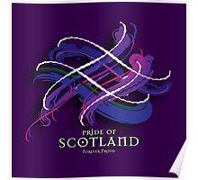 Pride of Scotland Tartan Twist Poster