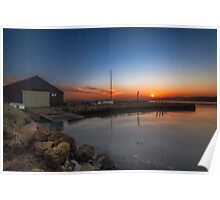 Newtown Quay at Sunset Poster