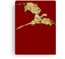 Elder Scrolls Skyrim Map in Dragon Cut-Out Canvas Print