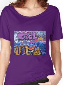 Graffiti in Freetown Christiania Copenhagen Denmark Women's Relaxed Fit T-Shirt