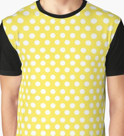 Polka over Light Yellow (small dots) Graphic T-Shirt