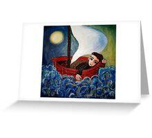 sea boy Greeting Card