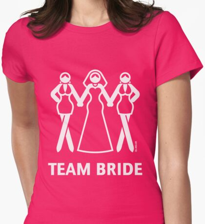 Team Bride (Hen Night, Bachelorette Party / White) Womens Fitted T-Shirt