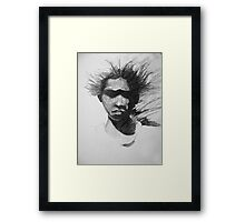 A Boy from the Bush Framed Print