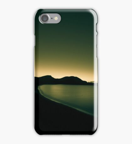Night shot of sea. Toned. iPhone Case/Skin