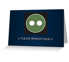 ODST Superintendent Calm Greeting Card