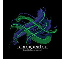 Black Watch Tartan Twist Photographic Print