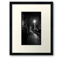 STREET SMART (CHRISTMAS LIGHTS)  Framed Print