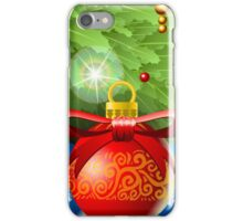 Holly Leaves Rectangle Placeholder iPhone Case/Skin