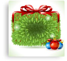 Holly Leaves Rectangle Placeholder Canvas Print
