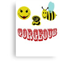 happy 2 bee gorgeous Canvas Print