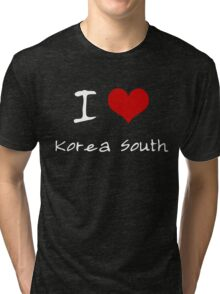 I love Heart Korea South Tri-blend T-Shirt