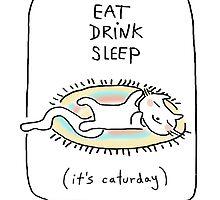 Eat drink sleep / Cat doodle by eyecreate
