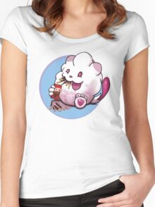 Snack time for Swirlix Women's Fitted Scoop T-Shirt