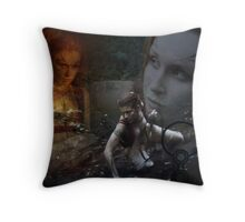 Woad 6 Throw Pillow