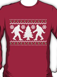 Ugly Holiday Bigfoot Christmas Sweater T-Shirt