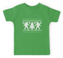 Ugly Holiday Bigfoot Christmas Sweater Kids Tee