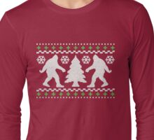 Ugly Holiday Bigfoot Christmas Sweater Long Sleeve T-Shirt