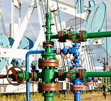 Oilwell and pump jack. by bashta