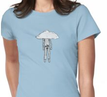 hanging from cloud Womens Fitted T-Shirt