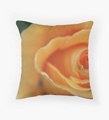 Apricot Ripple Throw Pillow