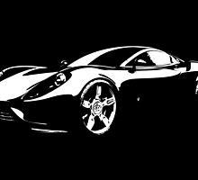 8 Ferrari Sports Car By Chris McCabe - DRAGAN GRAFIX by Christopher McCabe