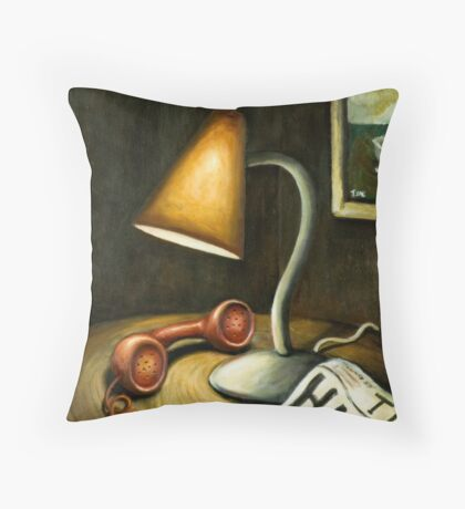 hold the phone Throw Pillow