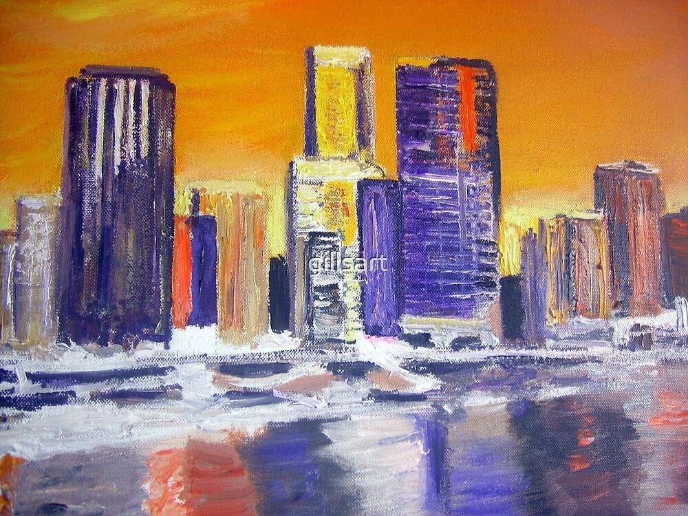 Brisbane City  by gillsart